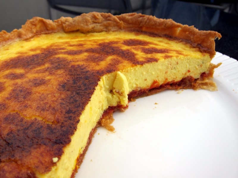 Fresh Garlic Saffron Tomato Quiche