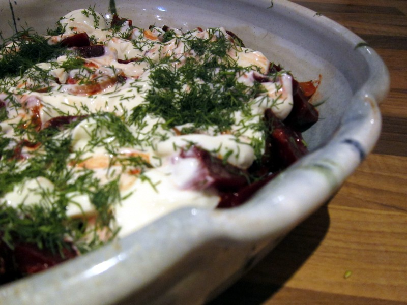 Posh Beetroot and Yoghurt Salad